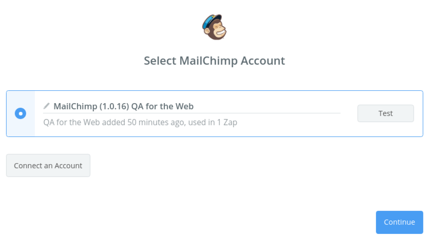 Connect MailChimp to Zapier